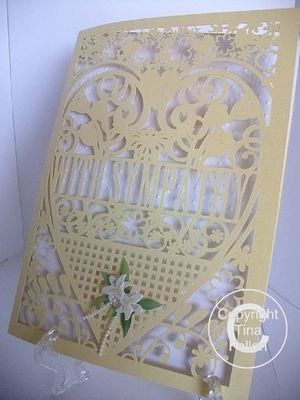 WITH SYMPATHY Card (with box)  beautiful cutout design