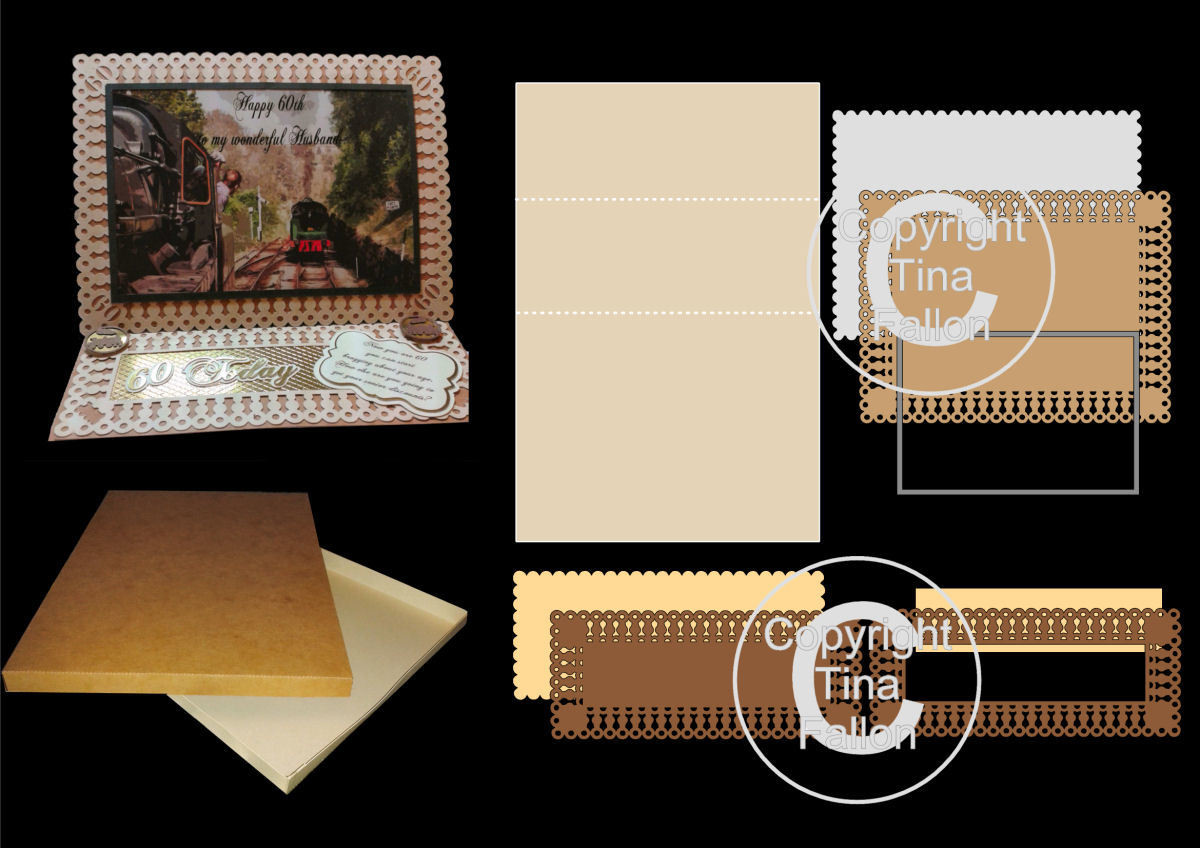 Easel Card Kit with frames and layers (complete with Box)