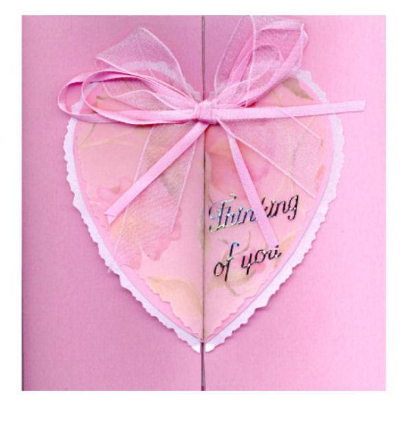 Heart Fold Card Centre Opening / gatefold