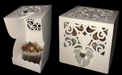 Heart Box 1 - Wedding, Anniversary,Birthday, Cupcake, Cake