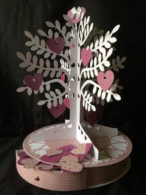 Wedding Wishes Tree with drawers under