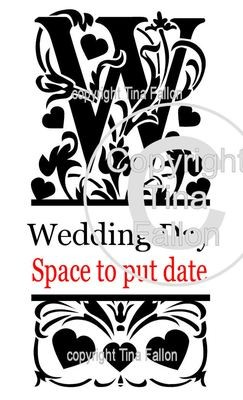 Wedding Day Split Letter 2 files for A4 and 12x12