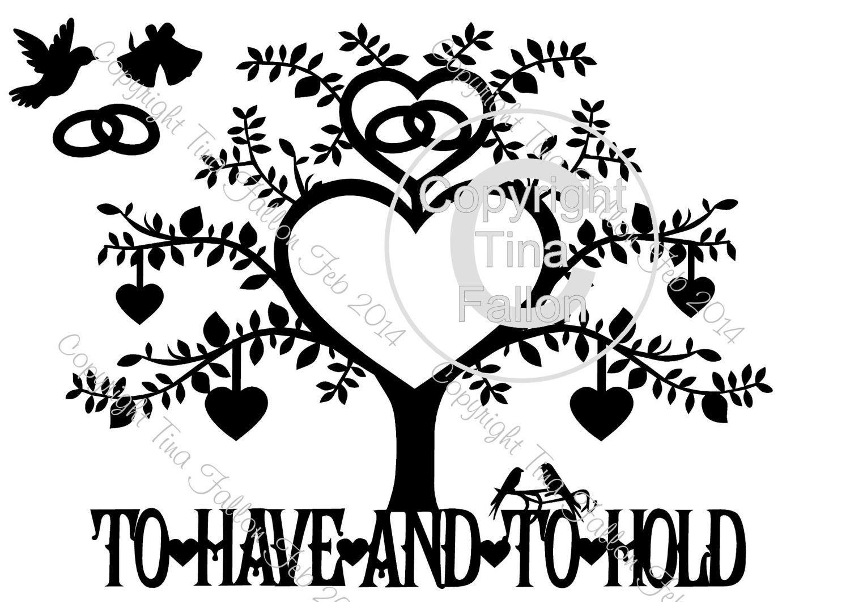 Wedding Tree Papercut No 3