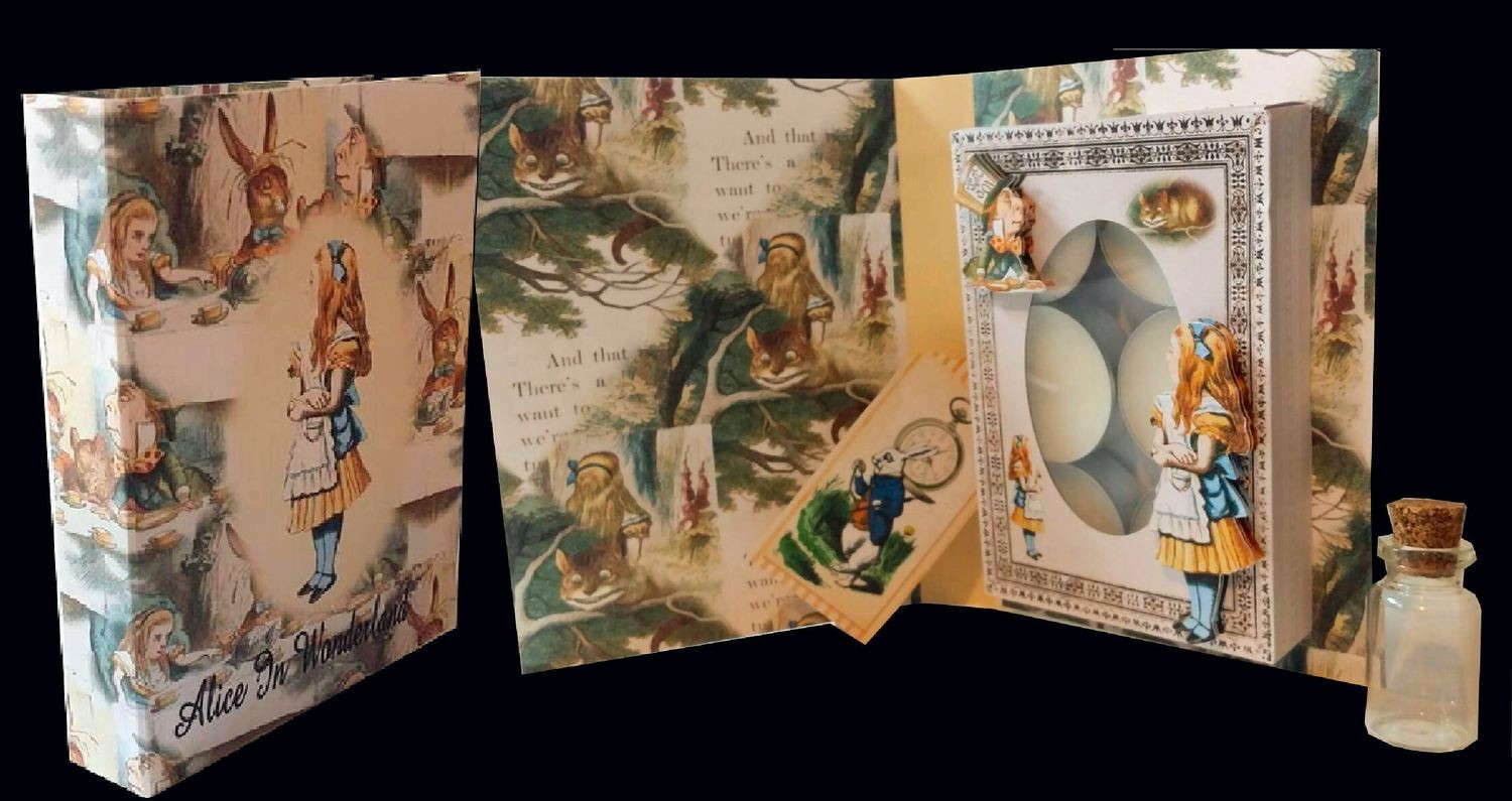 Alice in Wonderland  - Combi Card/Box  JPEGS for handcutting