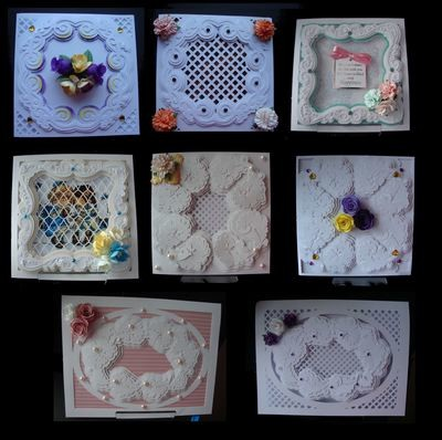 Faux Embossed Card Templates FULL SET No. 1 to No. 8   £6.00 saving  FCM