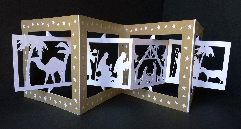 Accordian Card - Christmas Nativity-  Studio format