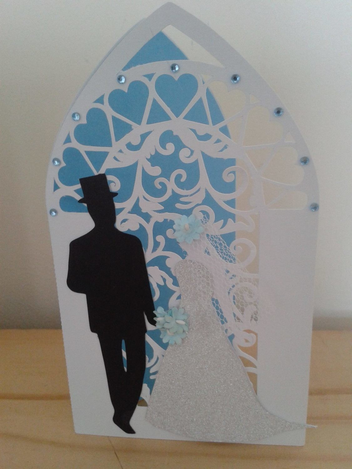 Wedding Arched Card with Filigree