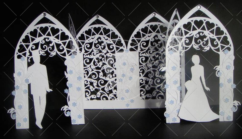 Wedding Arch Triple fold with Filigree