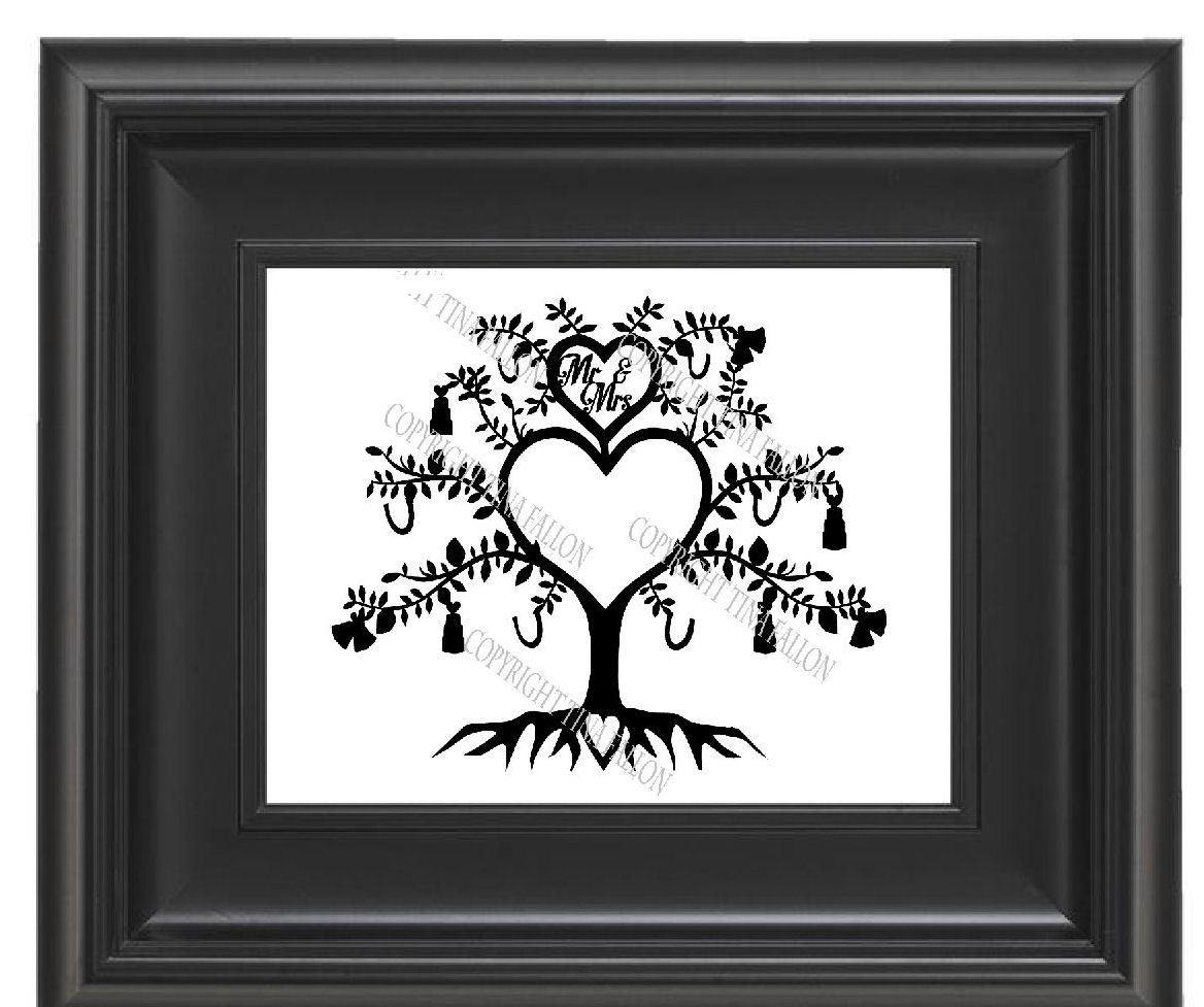 Wedding / Anniversary Tree Papercut No 1