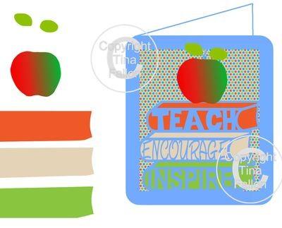 TEACHER - Teach Encourage layered card