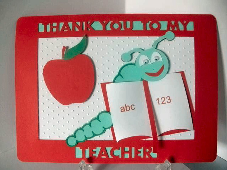 Teacher Thank You Layered Card Template