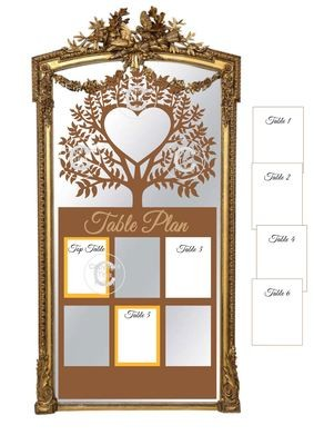 Ex Large Wedding Table Planner for 6 tables - studio fornat