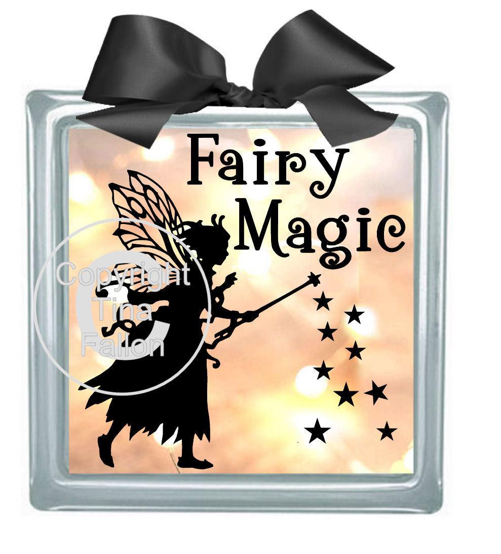 Fairy Magic - design for vinyl and glass blocks
