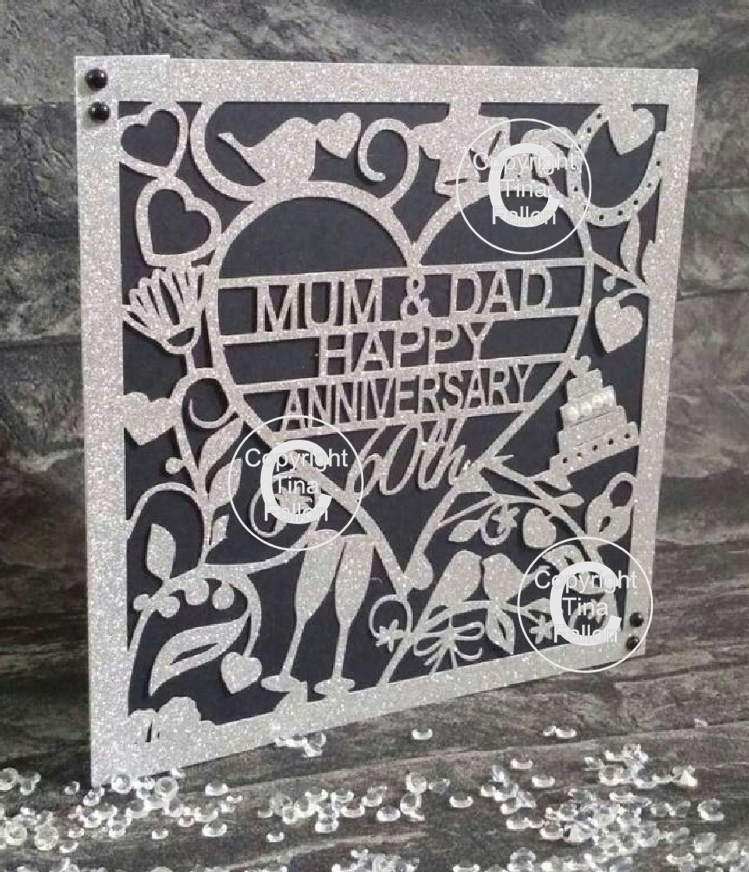 60th Diamond Wedding Anniversary Card  to Mum & Dad