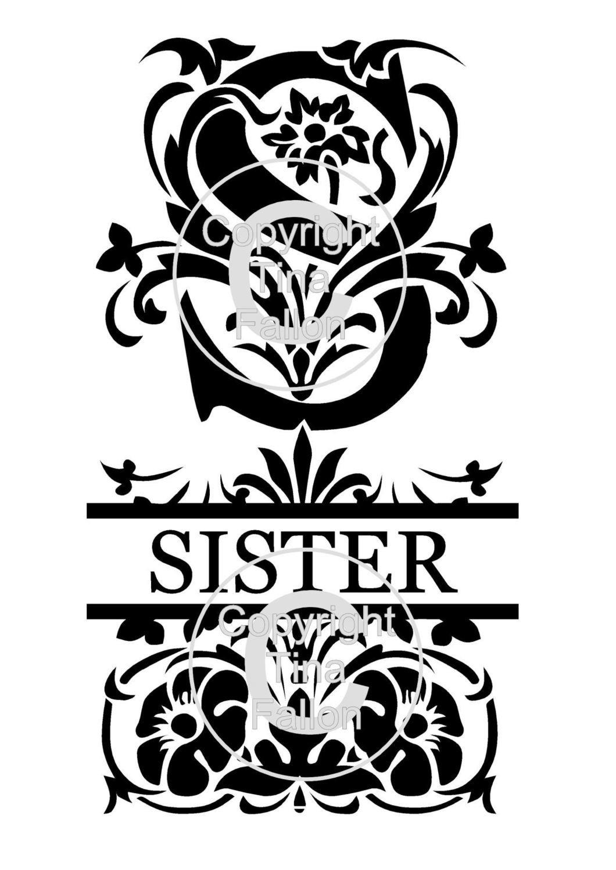 Sister Decorative Split Lettering