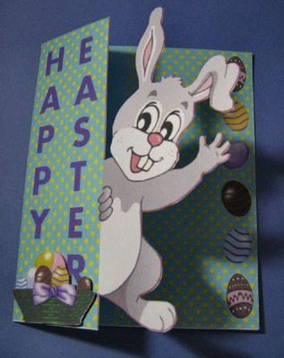 Easter Bunny Card  handcut format