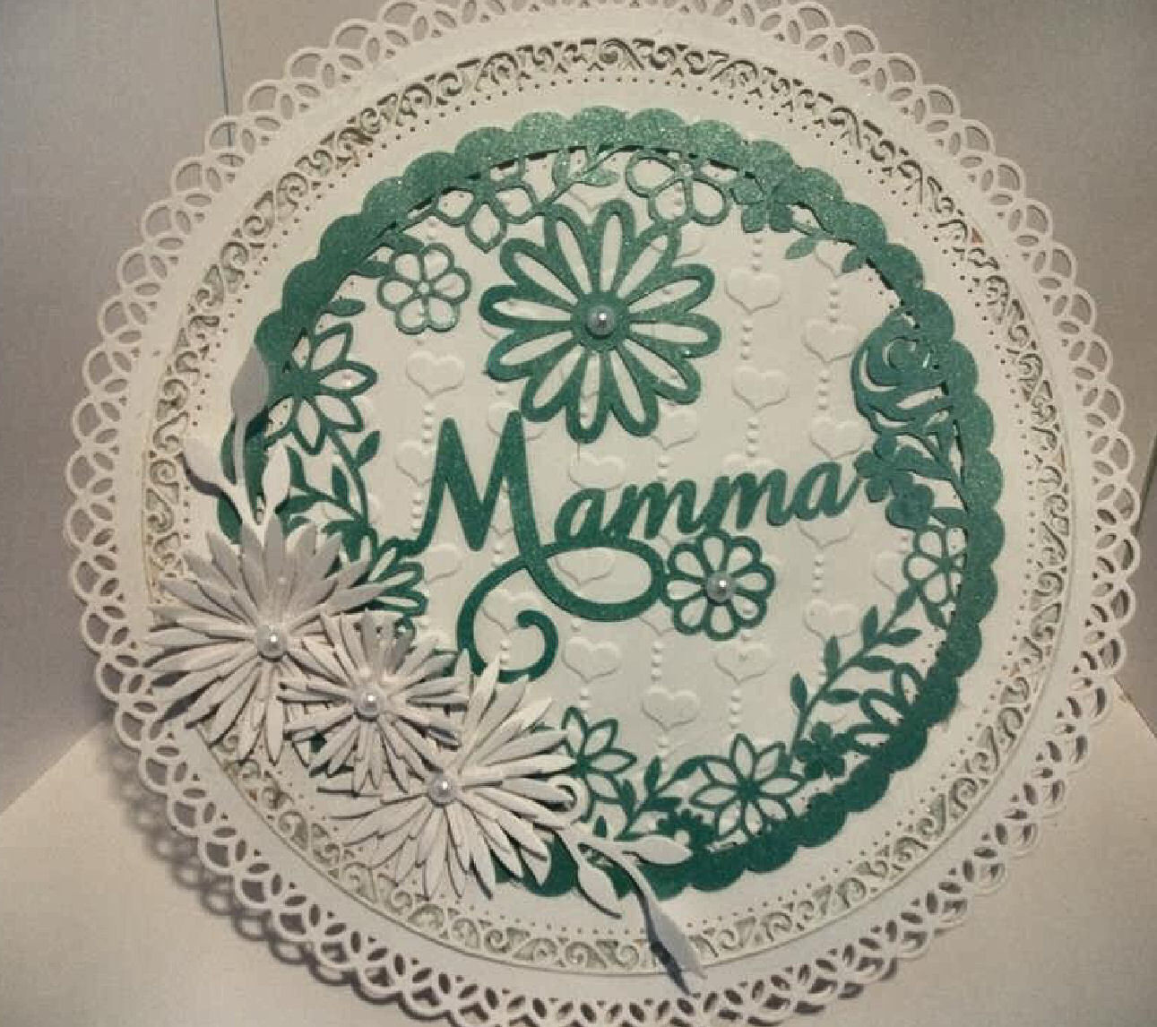 Mamma  decorative round framed ideal for Mother's Day.