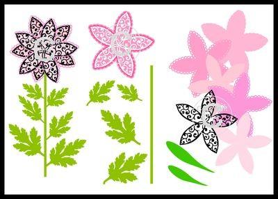 Filgree Daisy Flower Topper Mix N Match Multi Layers