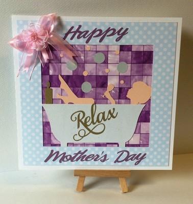 Mothers Day Bath Tub scene  card topper