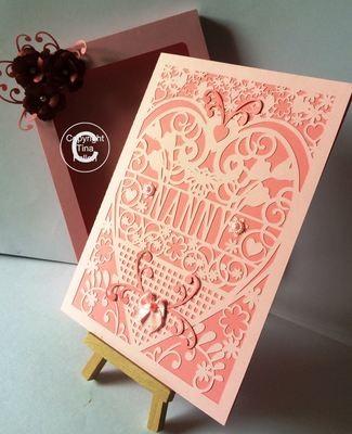 NANNY  Card (with box)  beautiful cutout design
