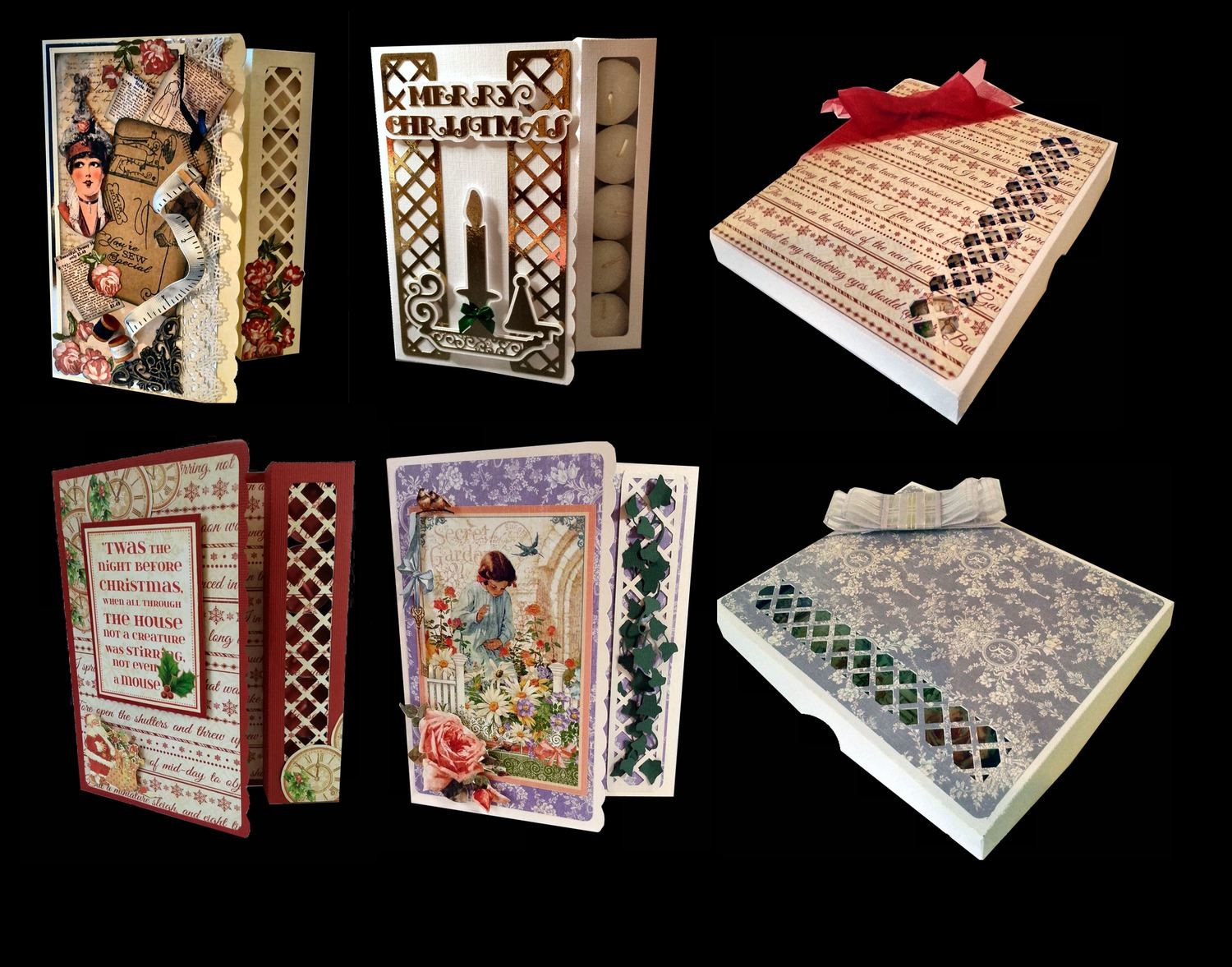 Tealight Card -Gift Box complete with a separate presentation box