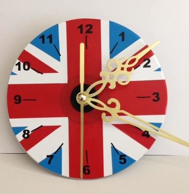 Union Jack  Clock Face for CD's / 45's / LP's and 78's