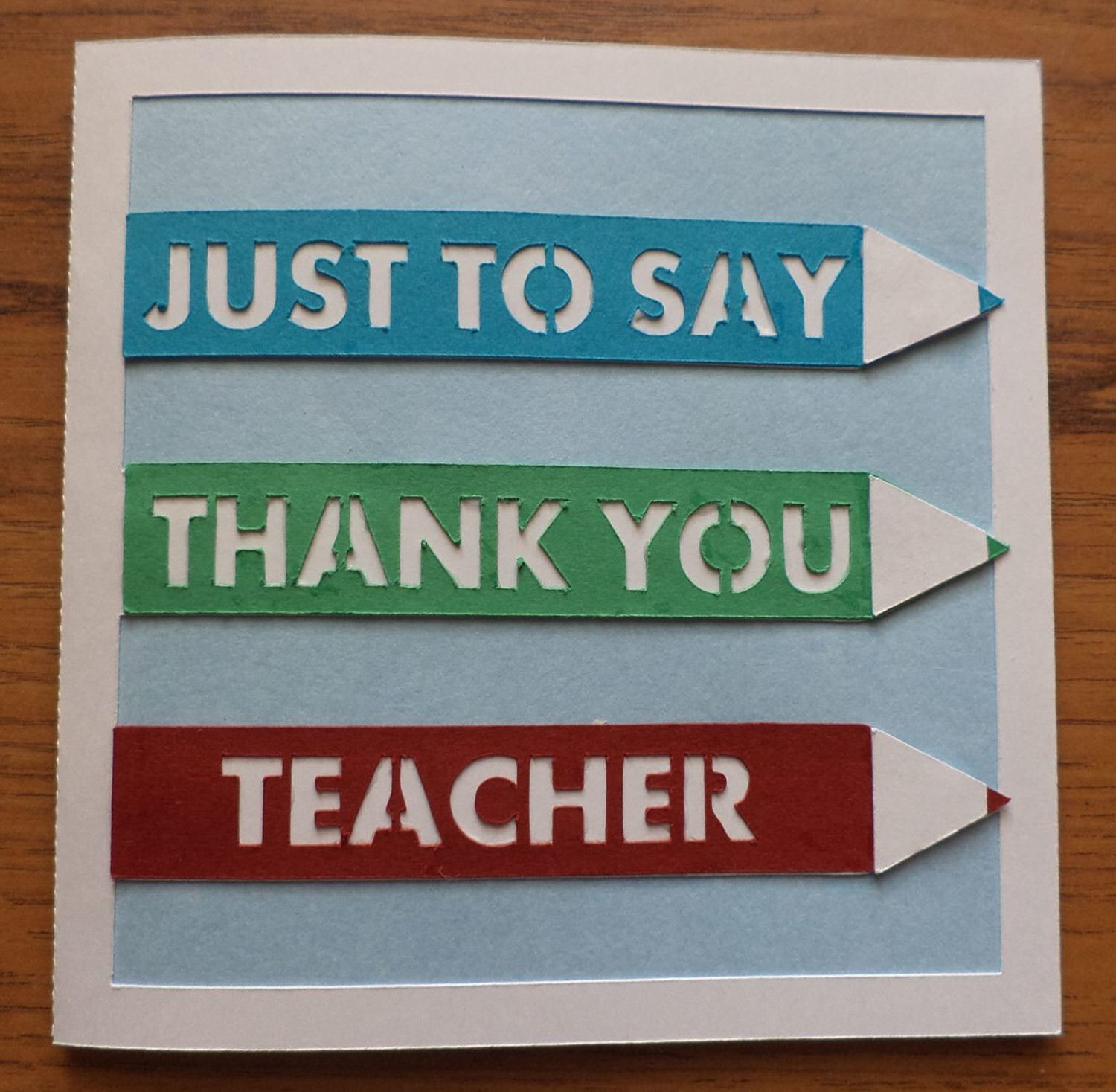Thank You Teacher layered card template