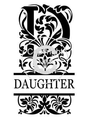 Split Letters - Daughter