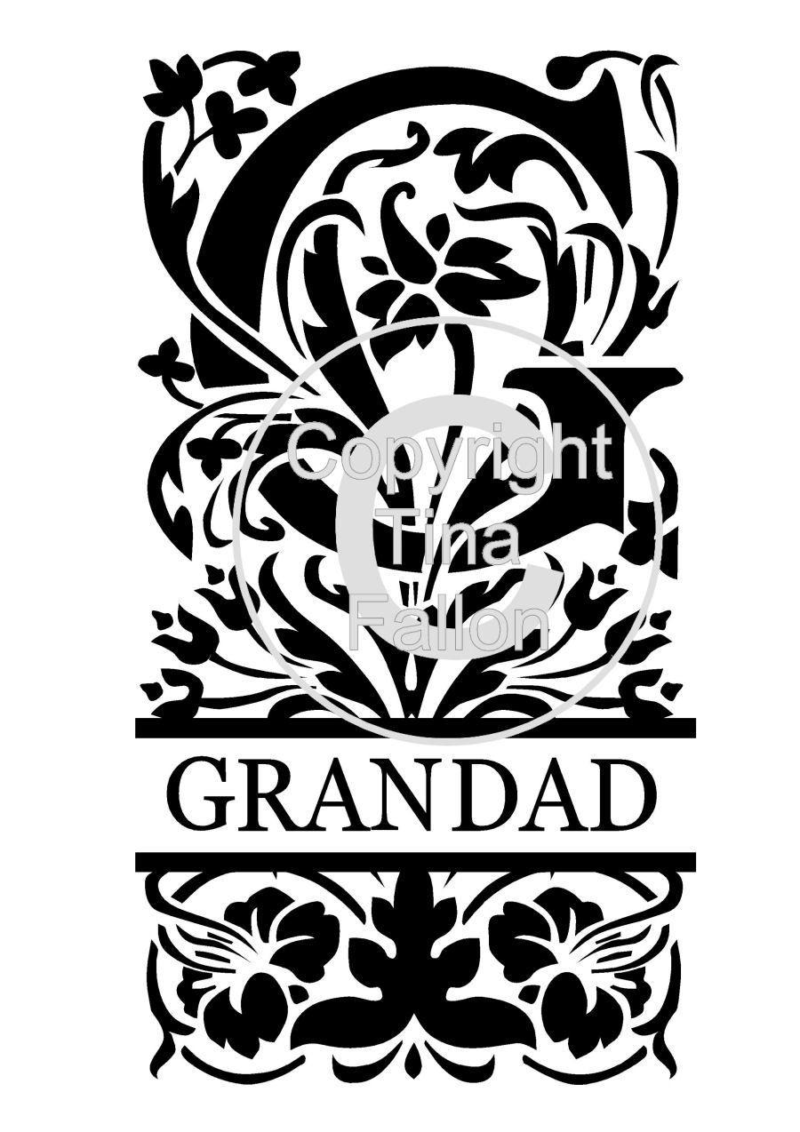 Split Letters - Grandad
