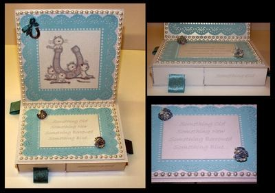 Square Easel Card with 4 Underdrawers choice No 1