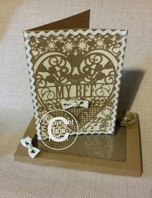BFF Best Friend Forever Birthday Card (with box)  beautiful cutout design