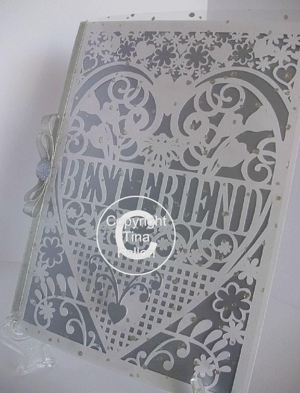 Best Friend Birthday Card (with box)  beautiful cutout design