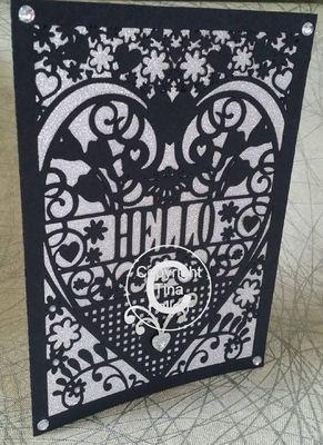 HELLO  Card (with box)  beautiful cutout design