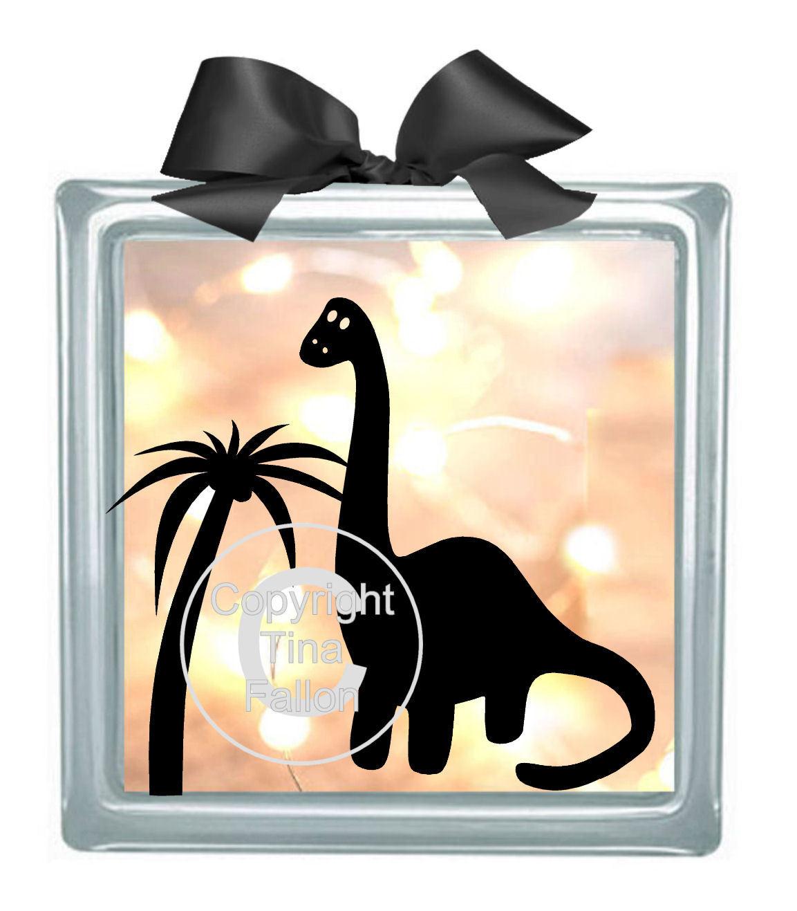 Dinosaur Glass Block Tile Design No 2