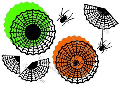 Halloween Web Assortment - design for vinyl , charger plates and glass blocks