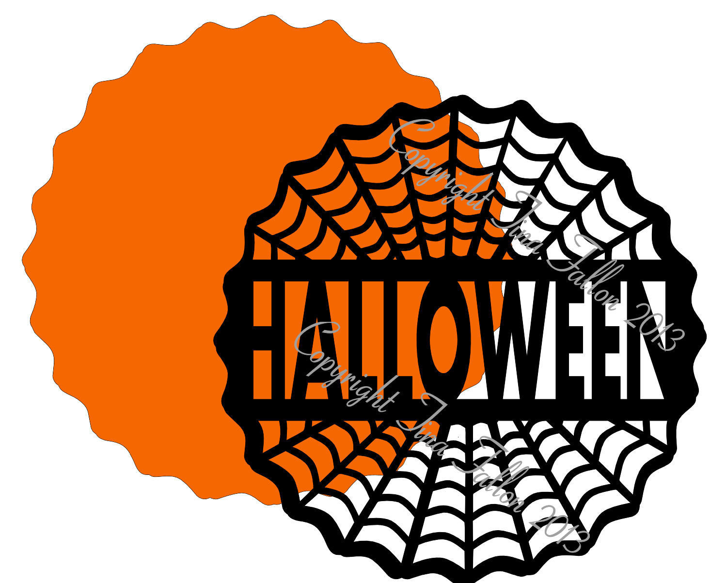Halloween 6 - design for vinyl , charger plates and glass blocks