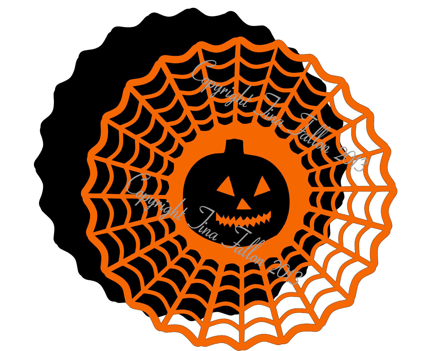Halloween 4 - design for vinyl , charger plates and glass blocks