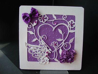 Butterfly In Heart Card Template