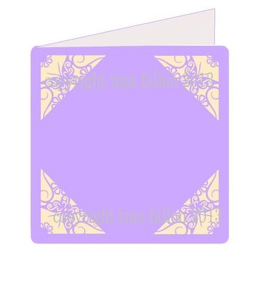 Butterfly Corners 1 - Card Template