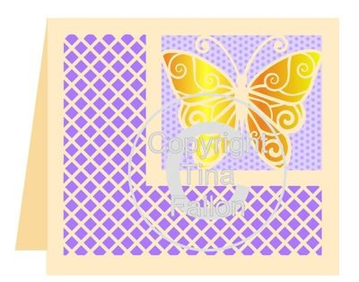 Butterfly 2 Card Template