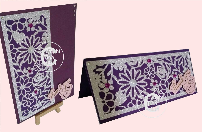 Floral Slim Panel  Card Topper
