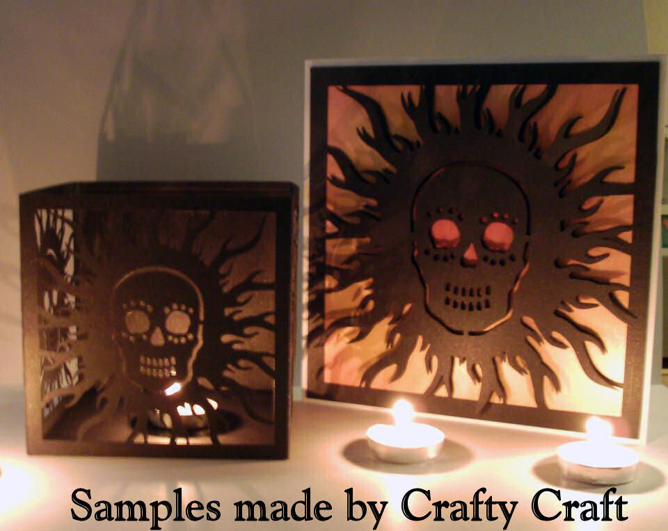Skull themed Luminiare and large card topper 2 files