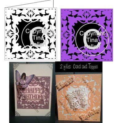 Timeless Elegance Card Template and separate topper / frame