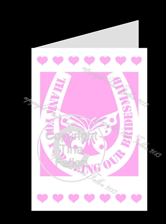 BRIDESMAID No3 Card template