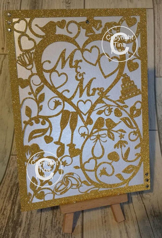 Mr & Mrs Wedding Card.