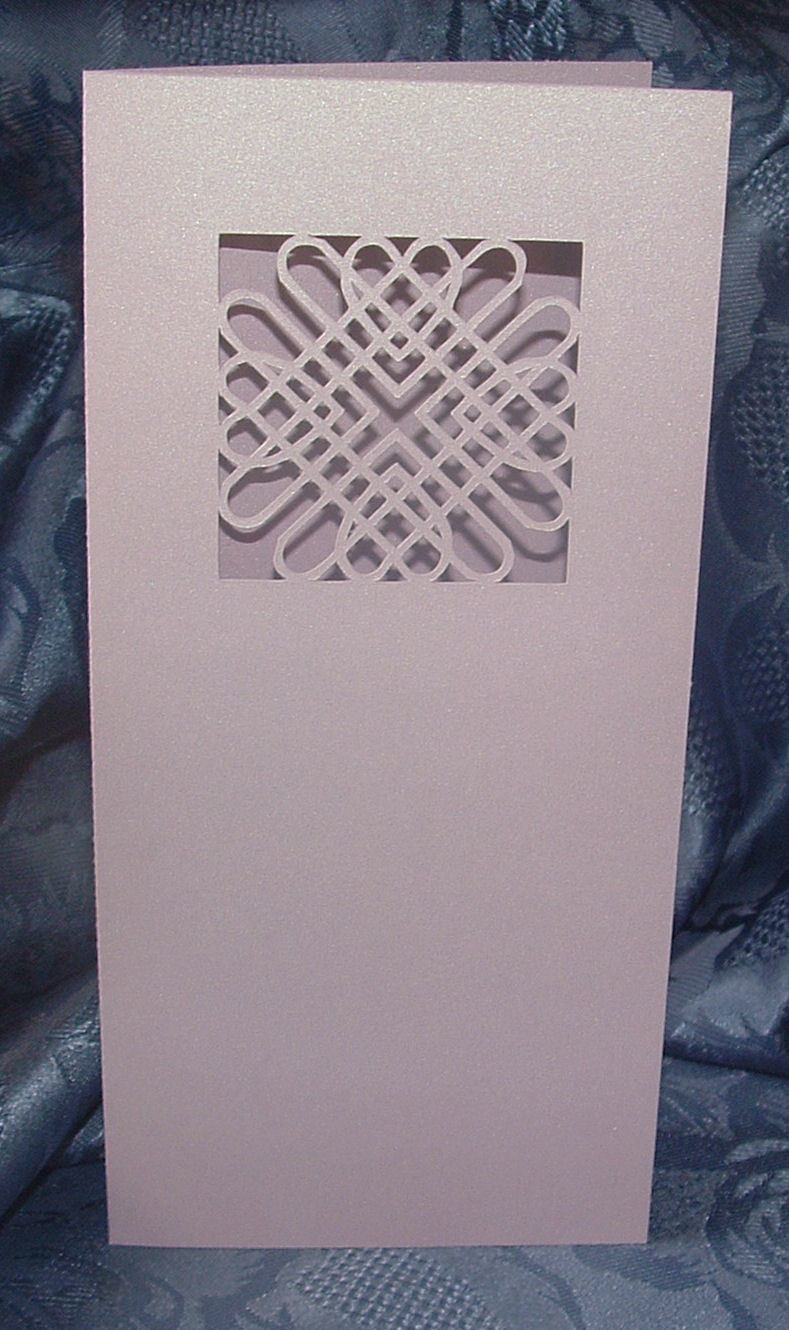 Entwined Hearts Card No3   DL size