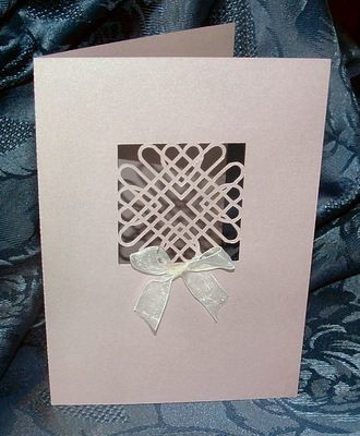 Entwined Hearts Card No 2  A6 size