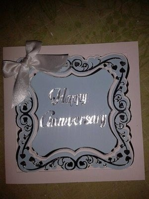 Faux Embossed Occasion layered Card Template with heart theme.