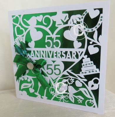 55th Emerald Wedding Anniversary Card