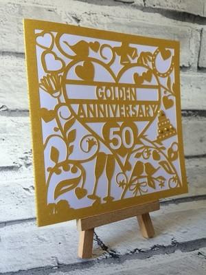 50th Golden Wedding Anniversary Card